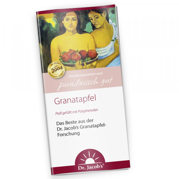 Flyer Dr. Jacob's Granatapfel